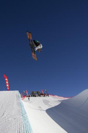 Stunning Day for Beau-James Wells at The North Face® Freeski Open Halfpipe