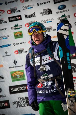 Charlie Lyons Podiums at Freeride World Tour