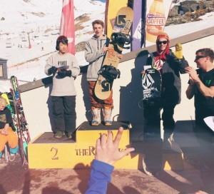 Carlos Garcia Knight 1st, JJ Rayward 3rd at Tric Slopestyle