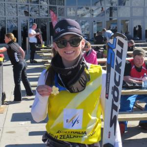 Golden Bibs for Piera Hudson & Adam Barwood at Coronet Peak ANC Races