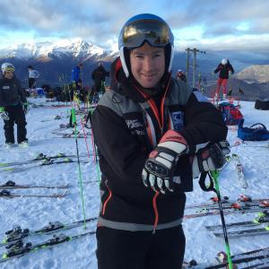 Eliza Grigg & Willis Feasey on the Podium at ANCs at Mt Hotham