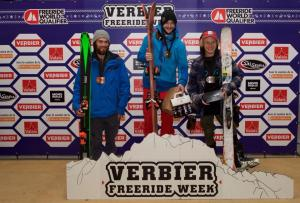 Kiwis on the Podium at Freeride World Qualifier in Verbier