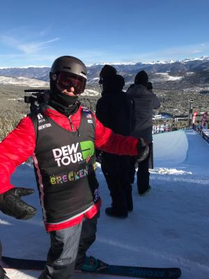 Freeskier Miguel Porteous Finishes 6th in Dew Tour Superpipe Finals