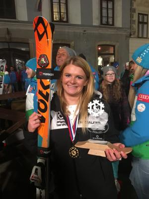 Gold and Silver for NZ Ski Racer Alice Robinson at Top International Youth Race