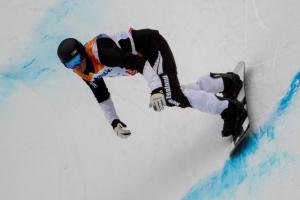 Carl Murphy 5th in Para Snowboard Banked Slalom in PyeongChang