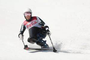 Corey Peters Gives it his All in the Men's Giant Slalom in PyeongChang