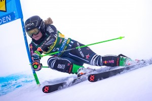 Alice Robinson skis from bib 40 into 21st place at her second ever World Cup Super G