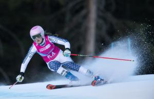 Ski Racer Katie Crawford Overcomes Injury on Tricky Giant Slalom Course